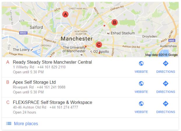 Storage in Manchester